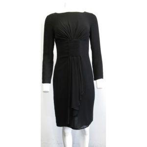 VALENTINO black long sleeve sheath dress sz 4